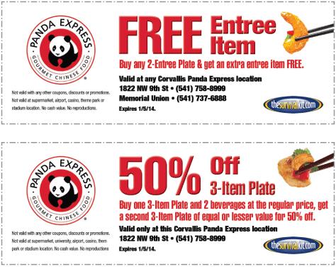 Panda express coupon code