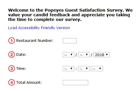 www tellpopeyes com tellpopeyes survey 2018 to win validation