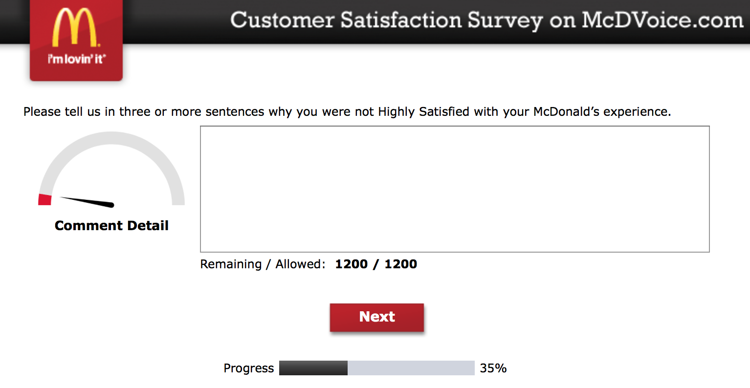 Mcdvoice.com Customer Survey 10