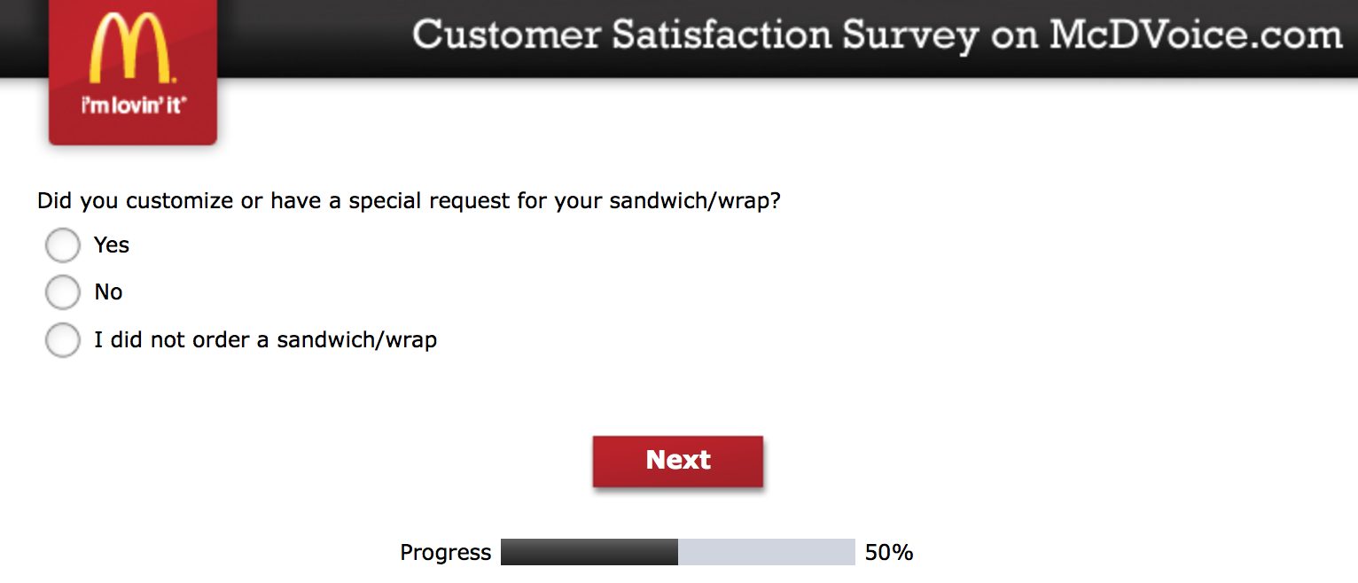 Mcdvoice.com Customer Survey 11