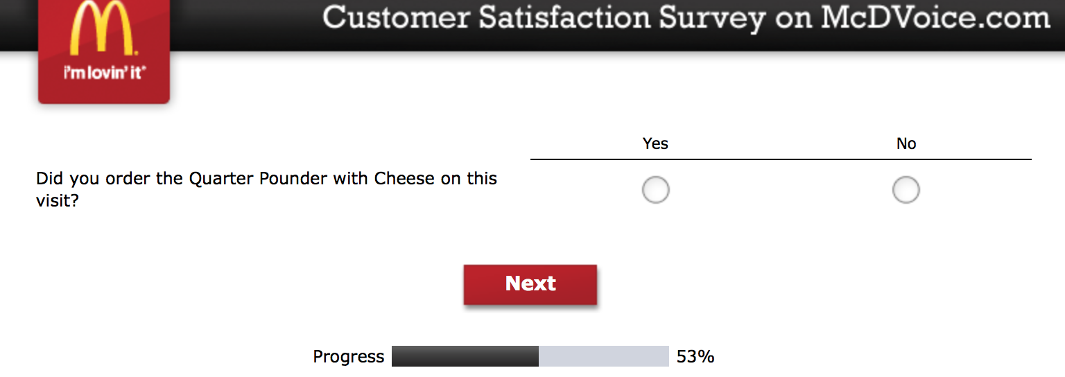 Mcdvoice.com Customer Survey 13