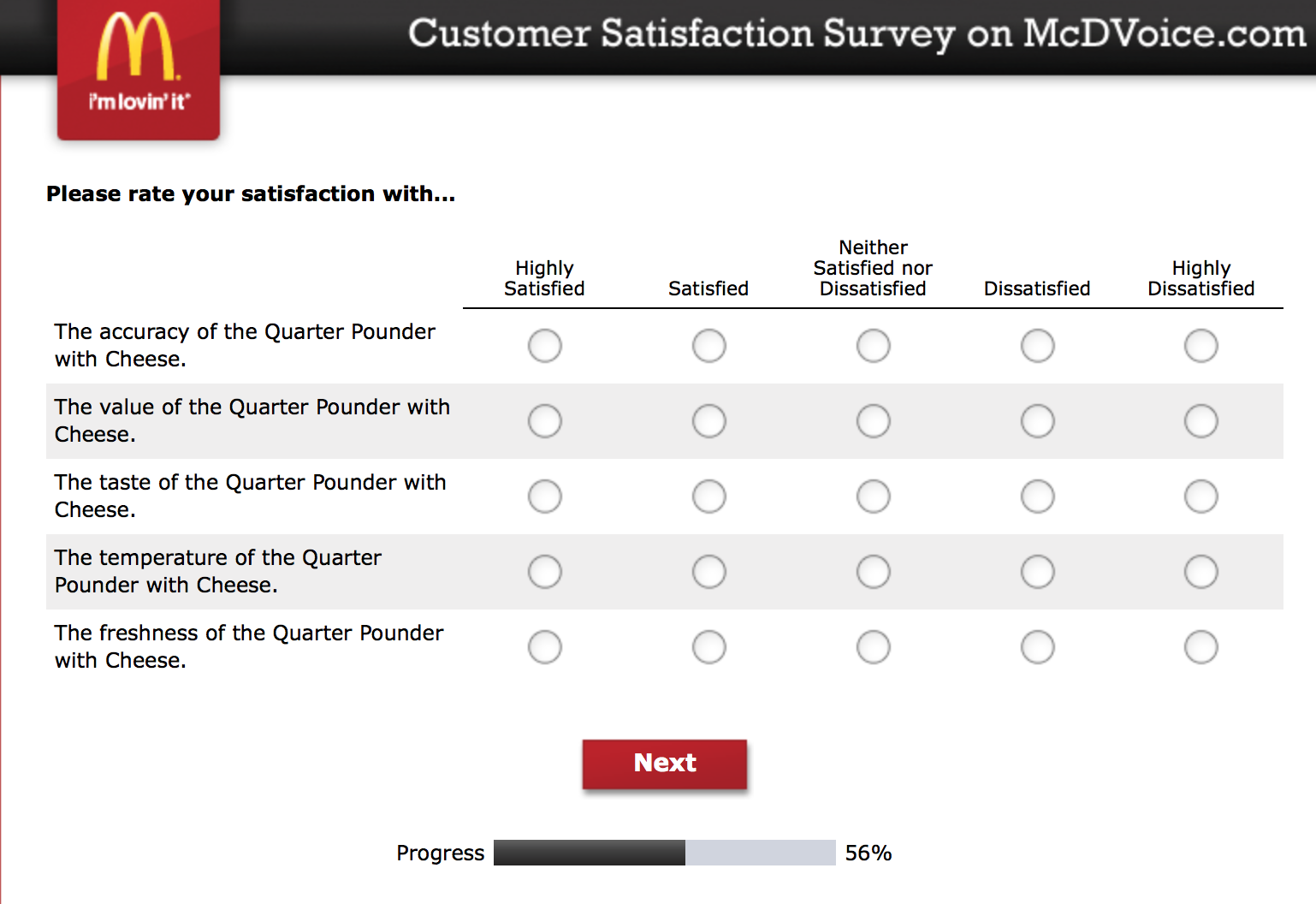 Mcdvoice.com Customer Survey 15