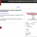 Mcdvoice.com Customer Survey
