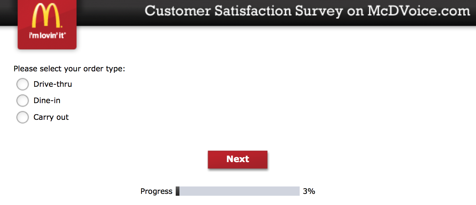 Mcdvoice.com Customer Survey 2