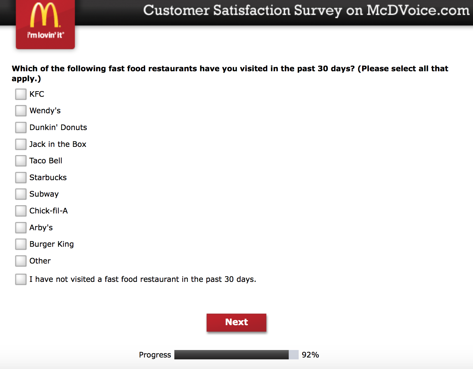 Mcdvoice.com Customer Survey 22