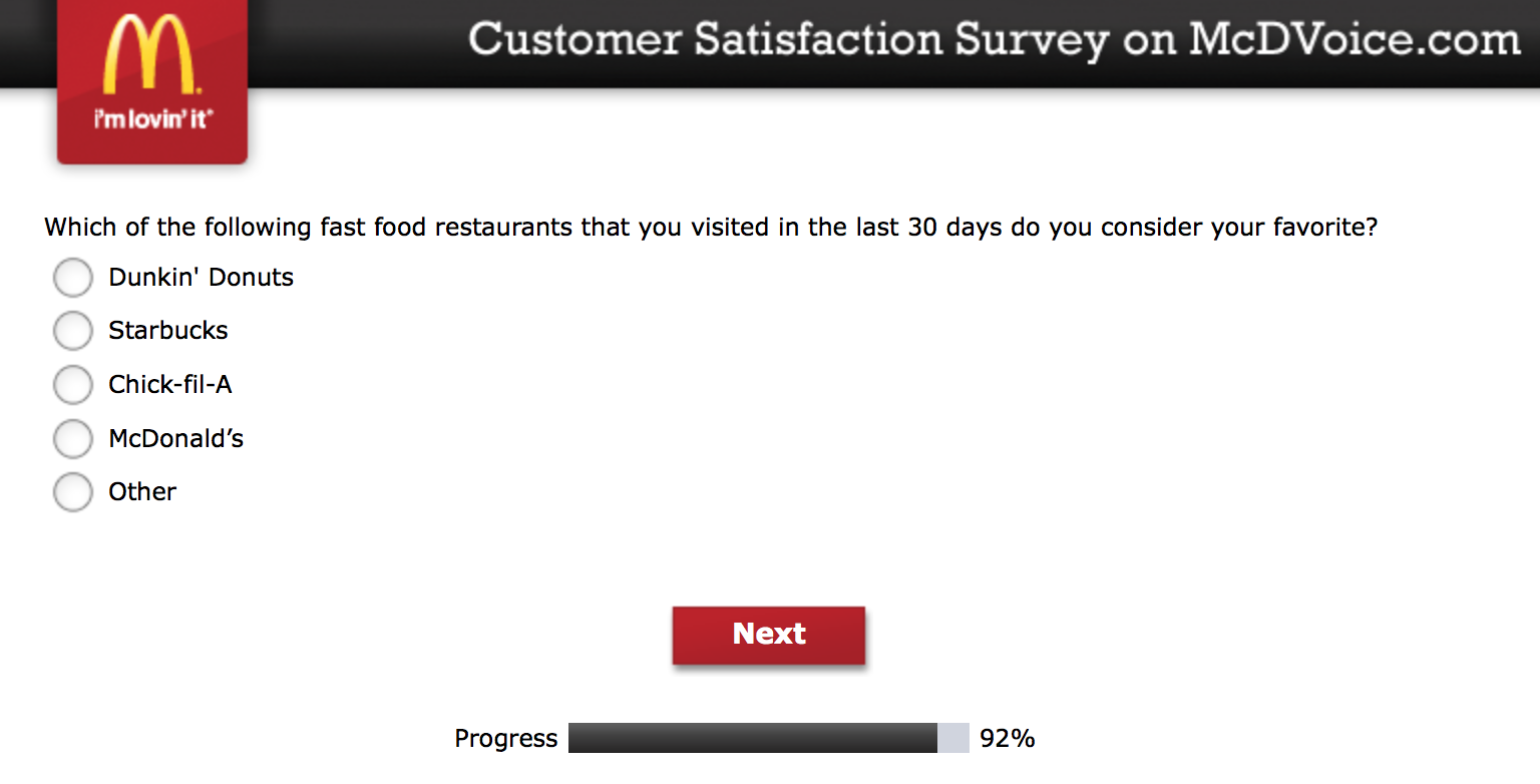 Mcdvoice.com Customer Survey 23