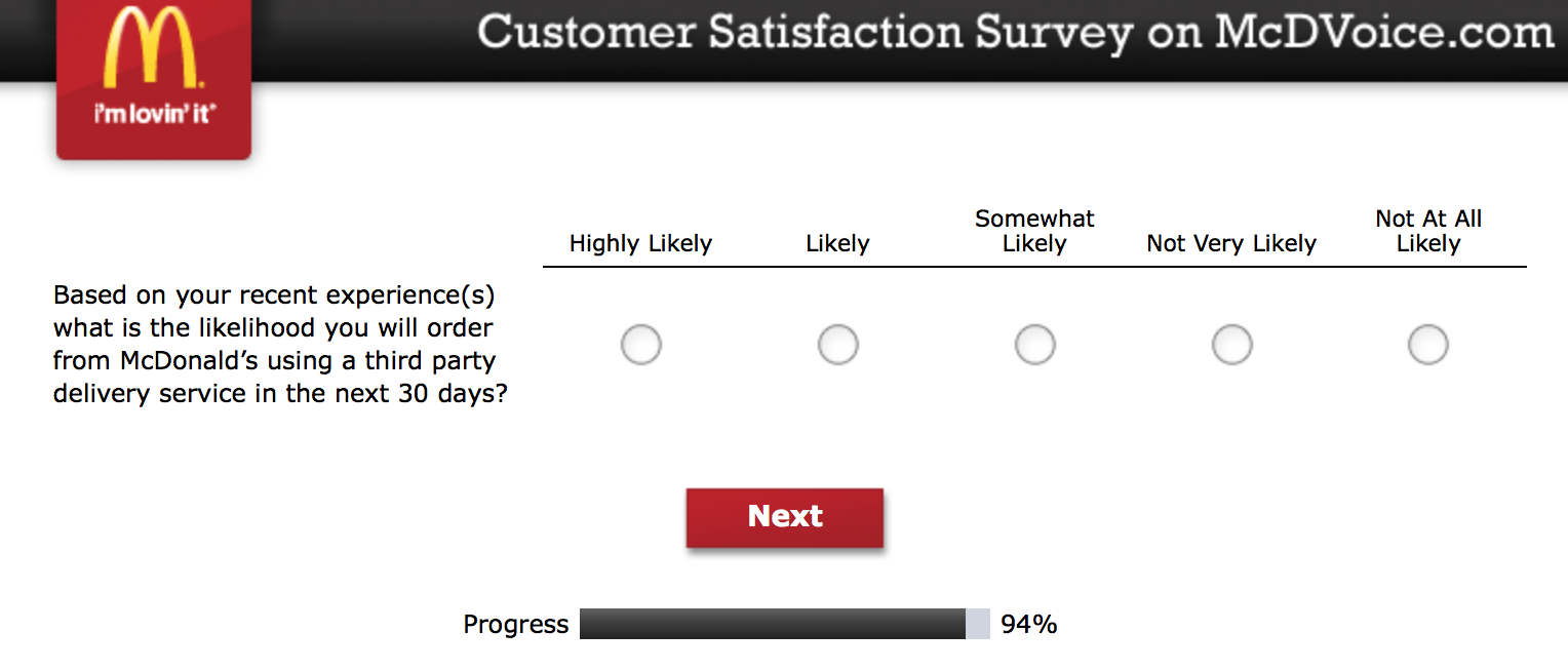 Mcdvoice.com Customer Survey 26