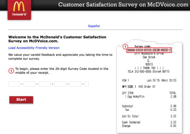 Mcdvoice.com Customer Survey