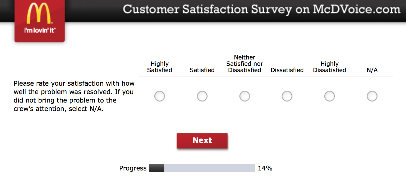 Mcdvoice.com Customer Survey 7