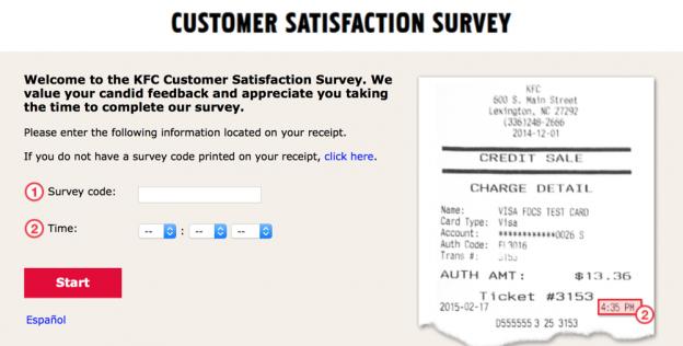 Mykfcexperience.com Survey