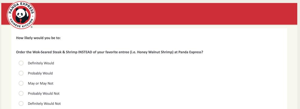 PandaExpress.com:feedback Survey 25