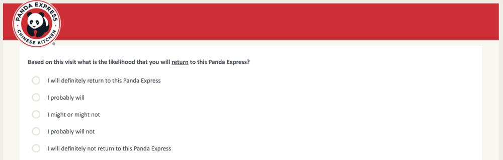 PandaExpress.com:feedback Survey 7