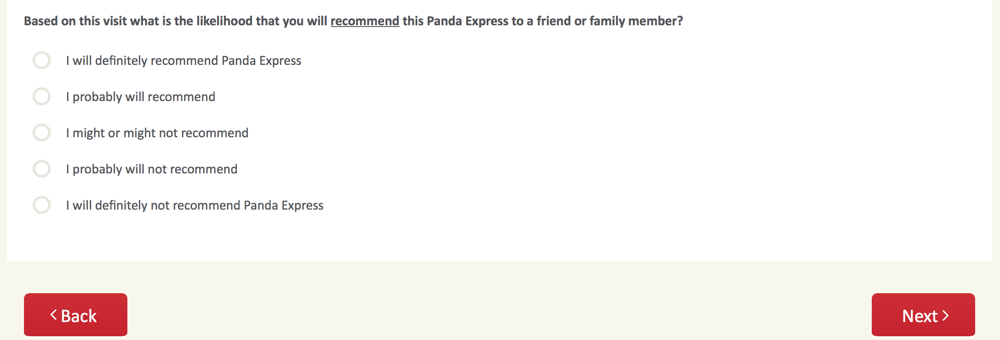 PandaExpress.com:feedback Survey 8