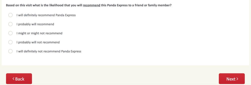 PandaExpress.com:feedback Survey 8