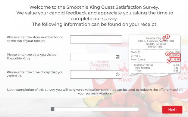 Smoothie King Feedback Survey
