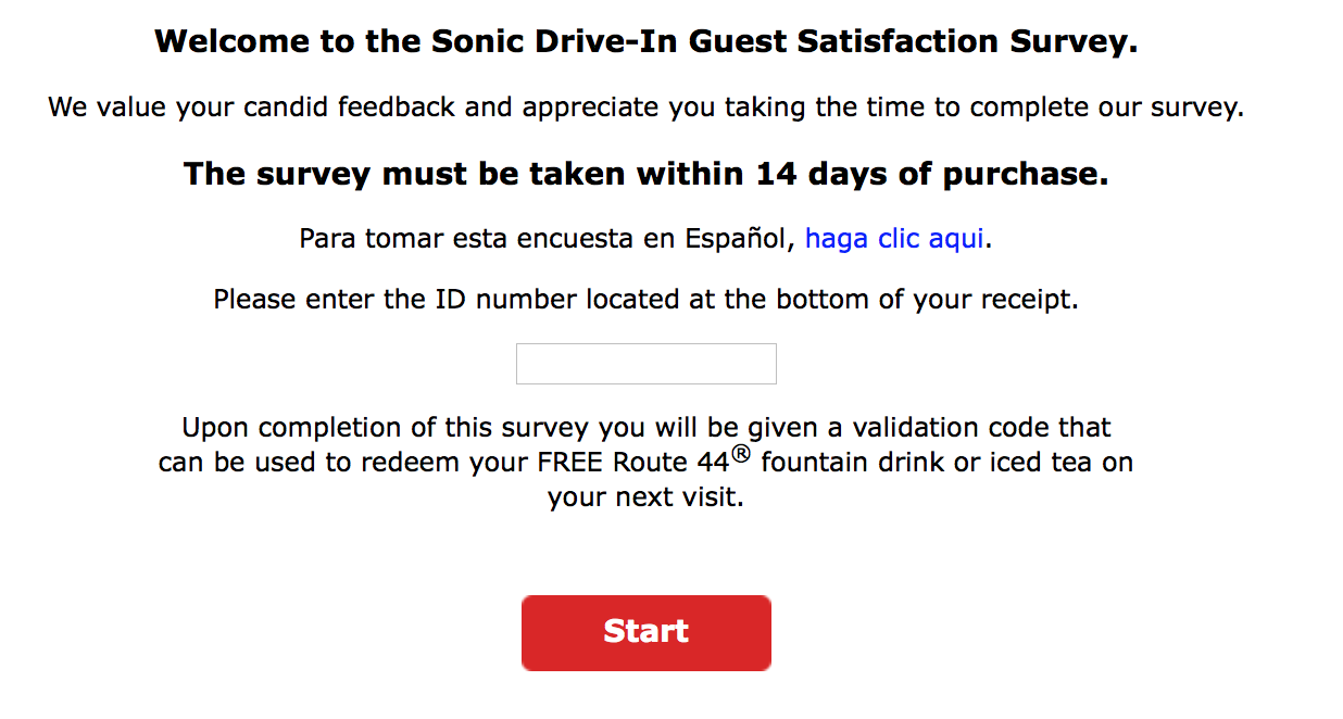 TalktoSonic.com Customer Survey