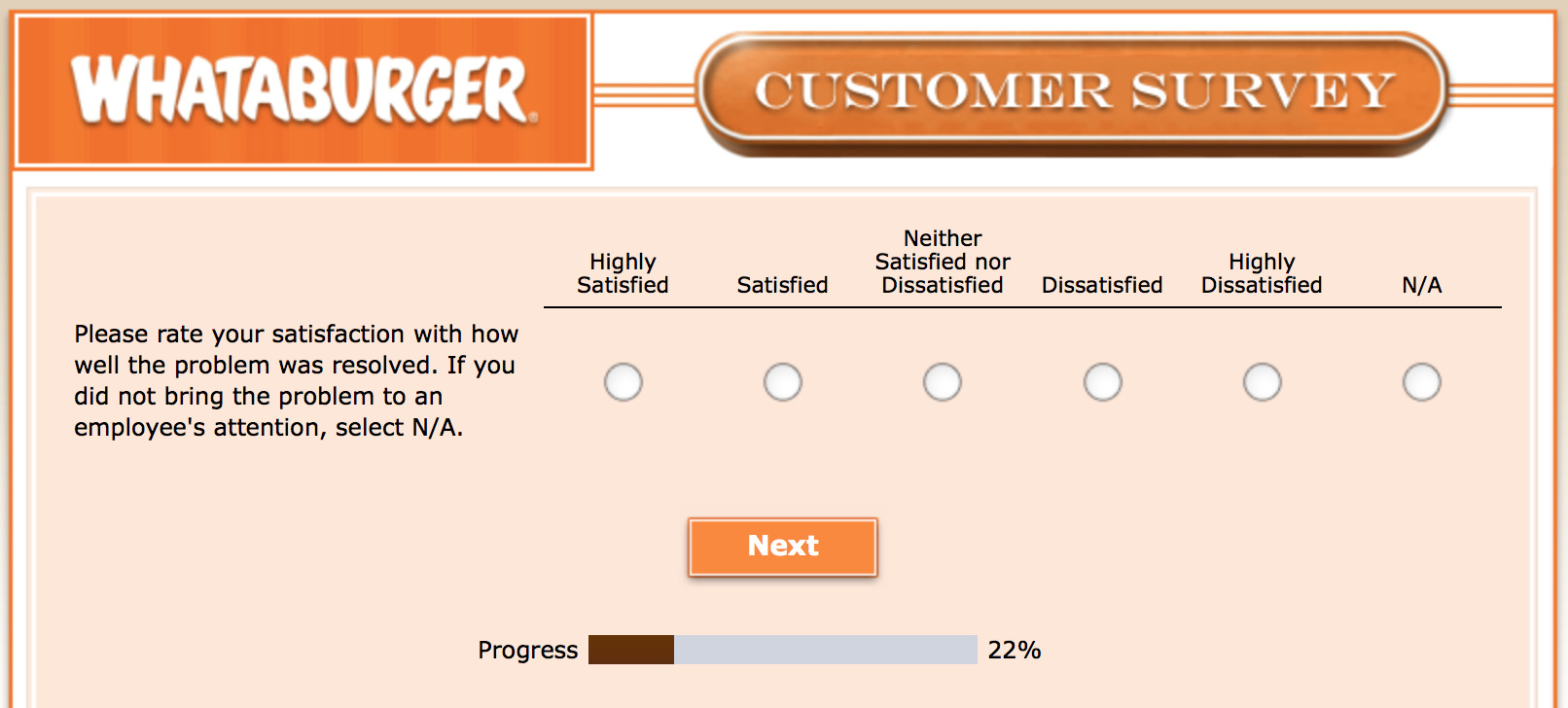 Whataburger Survey 11
