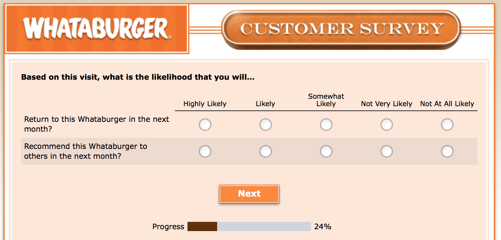 Whataburger Survey 12