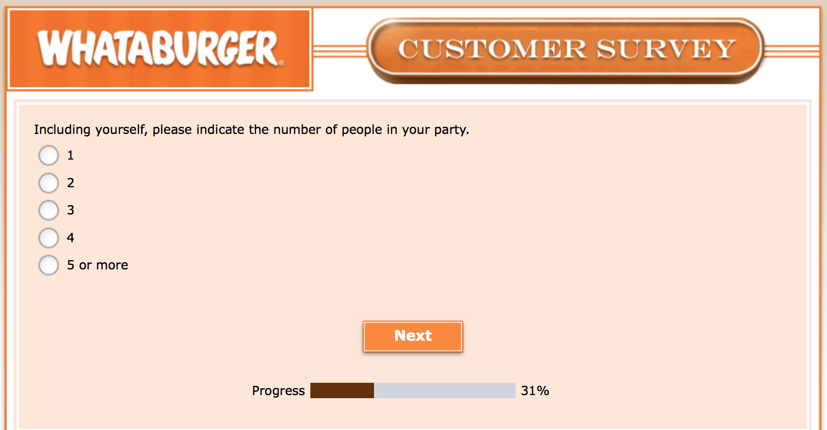 Whataburger Survey 14