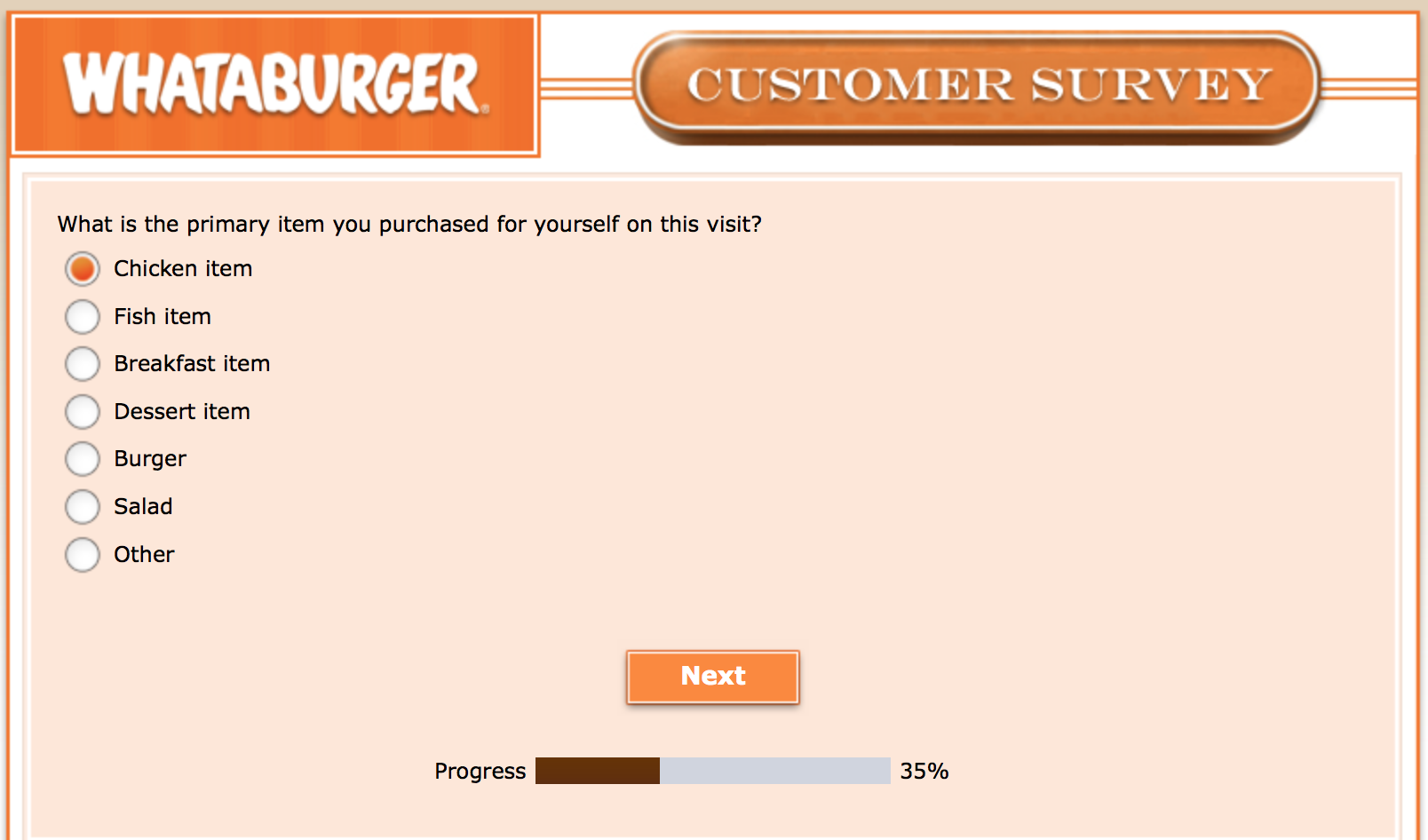 Whataburger Survey 15