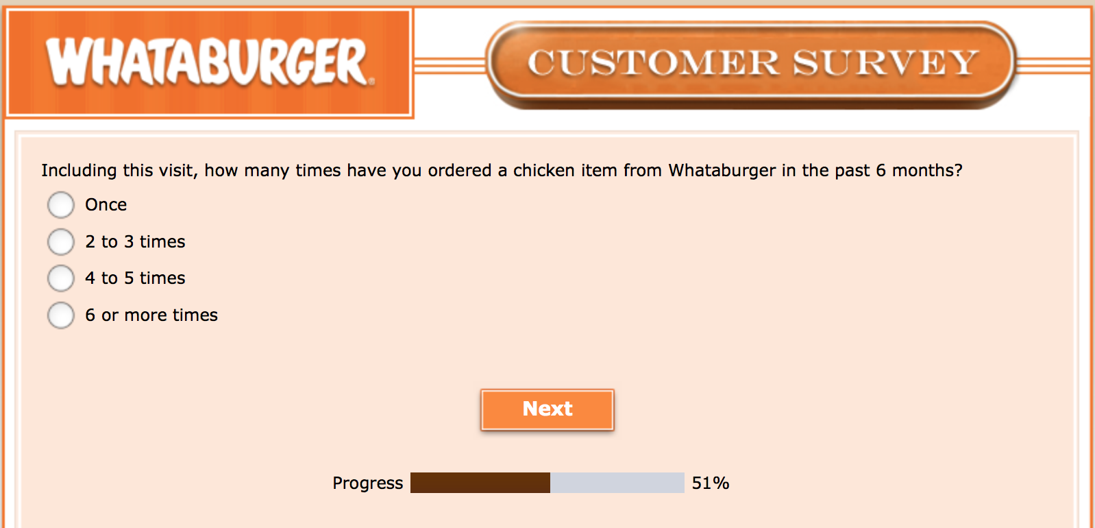 Whataburger Survey 18