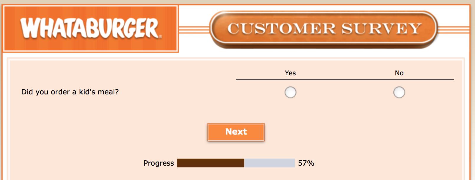 Whataburger Survey 19