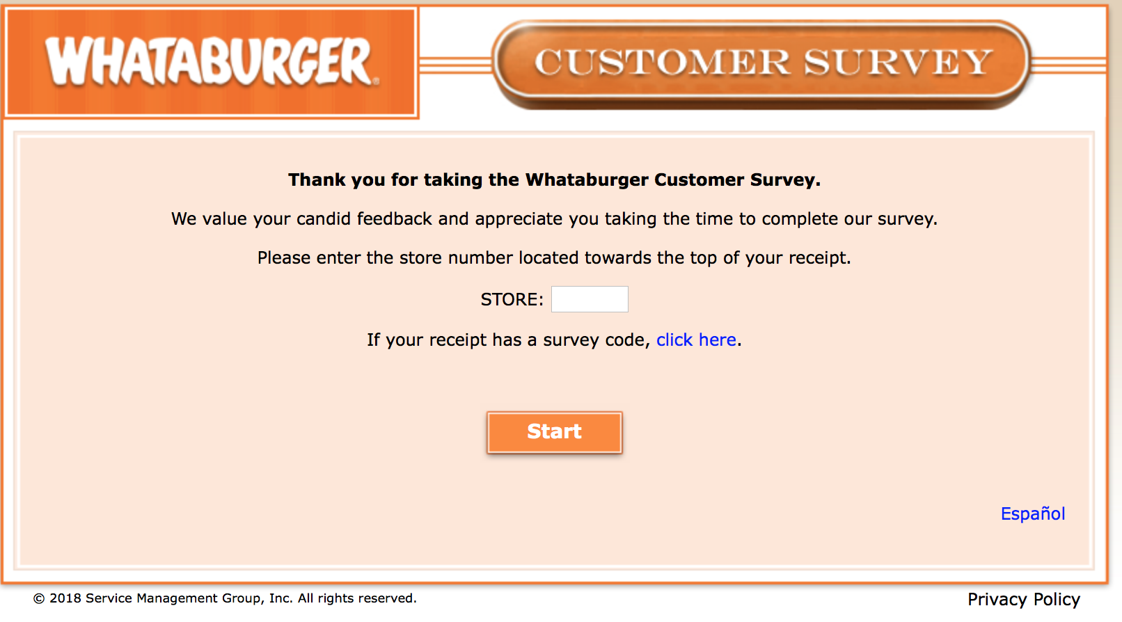 Whataburger Survey 2