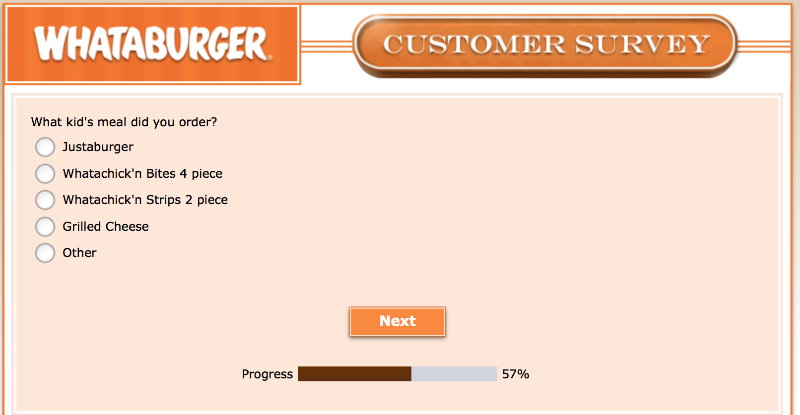Whataburger Survey 20