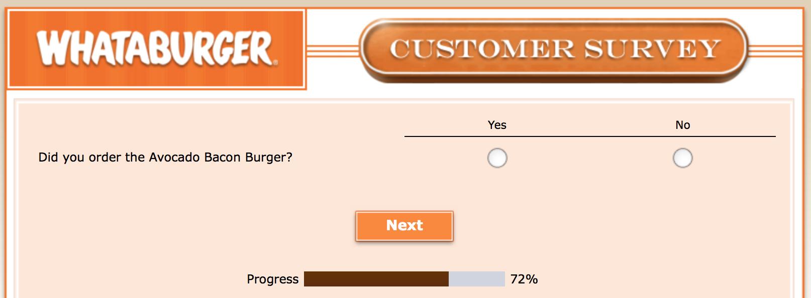Whataburger Survey 22