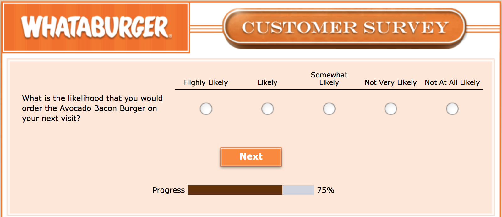 Whataburger Survey 24