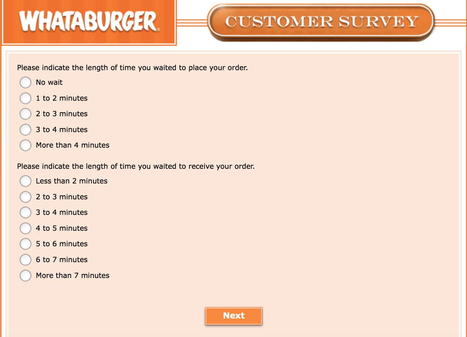 Whataburger Survey 25