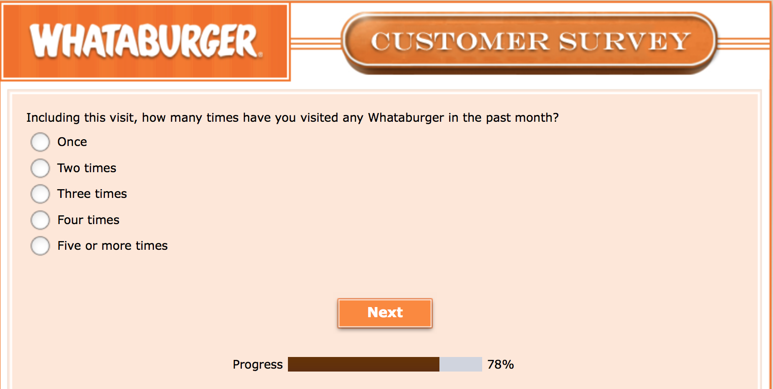 Whataburger Survey 26