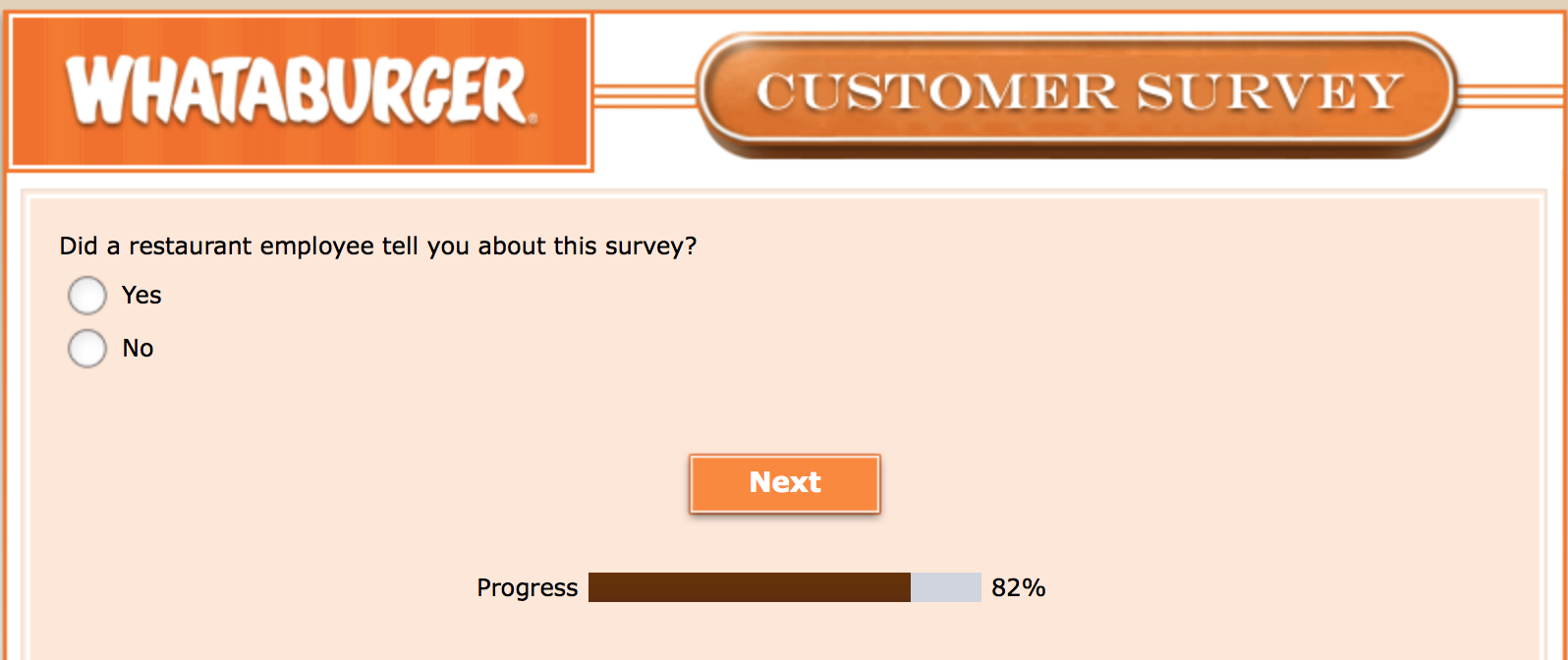 Whataburger Survey 27