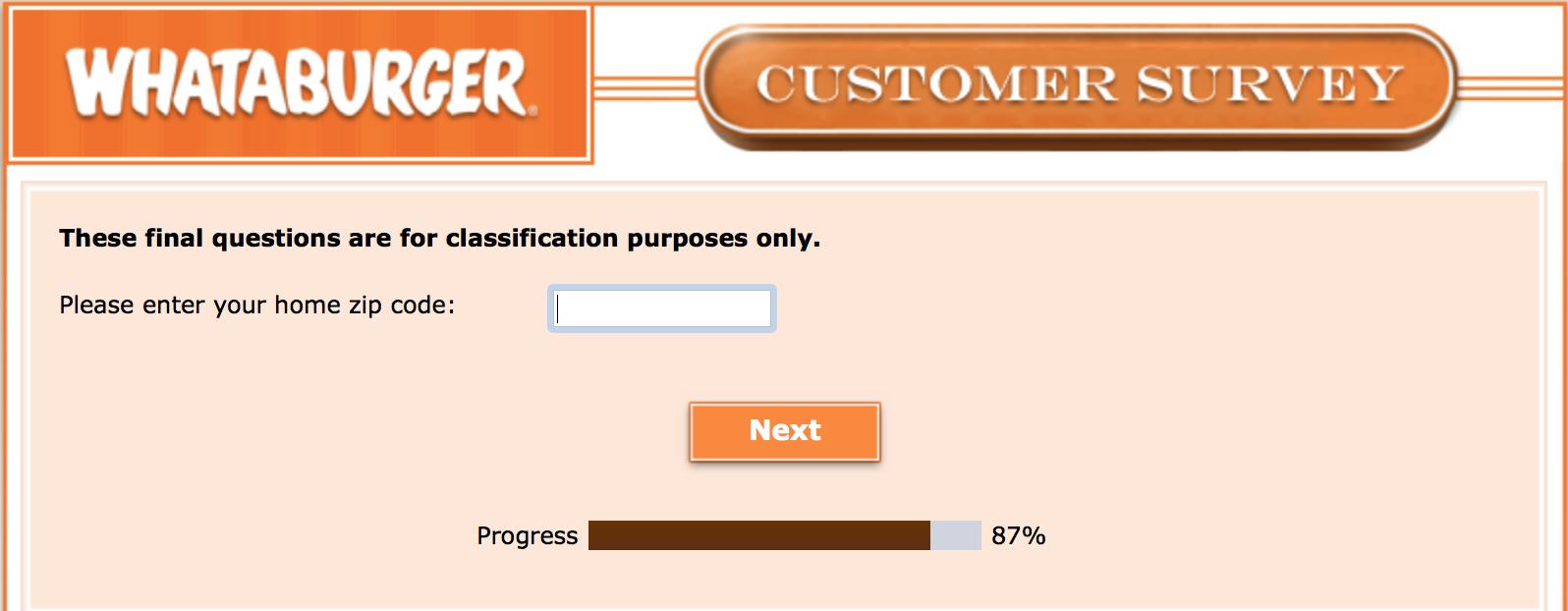 Whataburger Survey 29