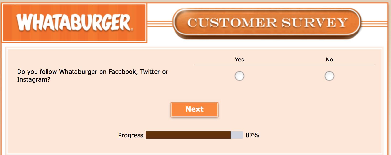 Whataburger Survey 30
