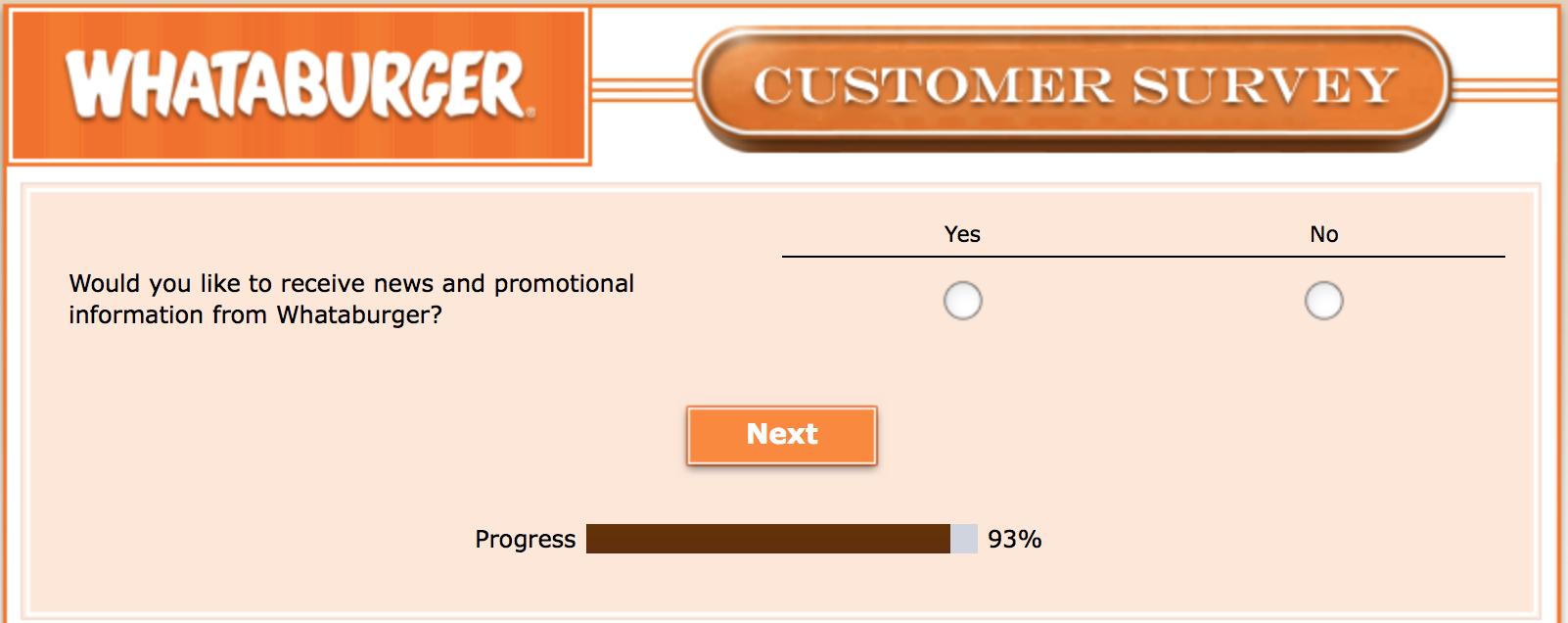Whataburger Survey 32