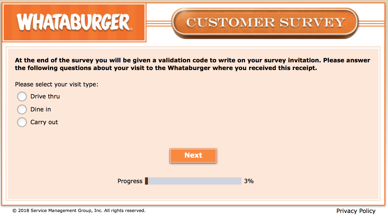 Whataburger Survey 4