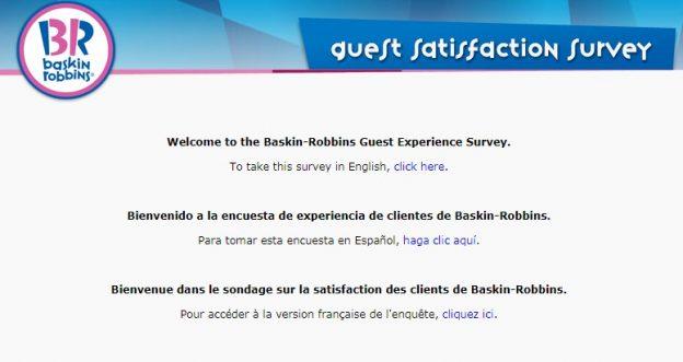 Baskin Robbins Survey
