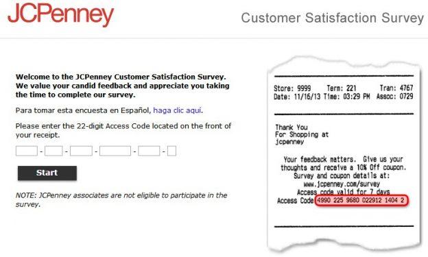 JCPenney Customer Satisfaction Survey