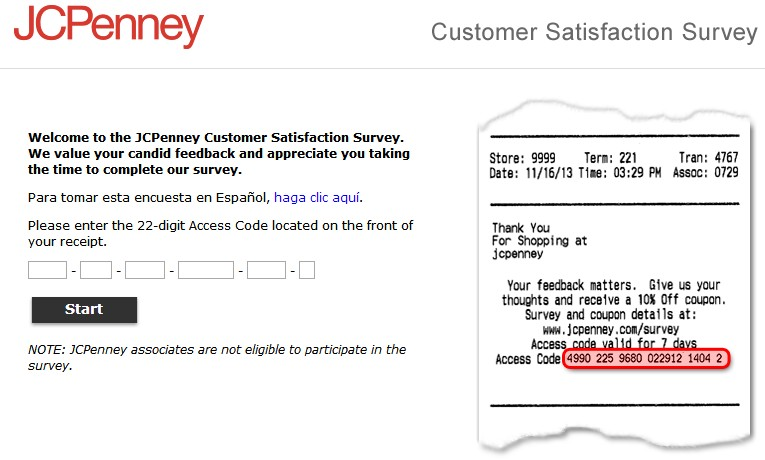 JCPenney Customer Satisfaction Survey