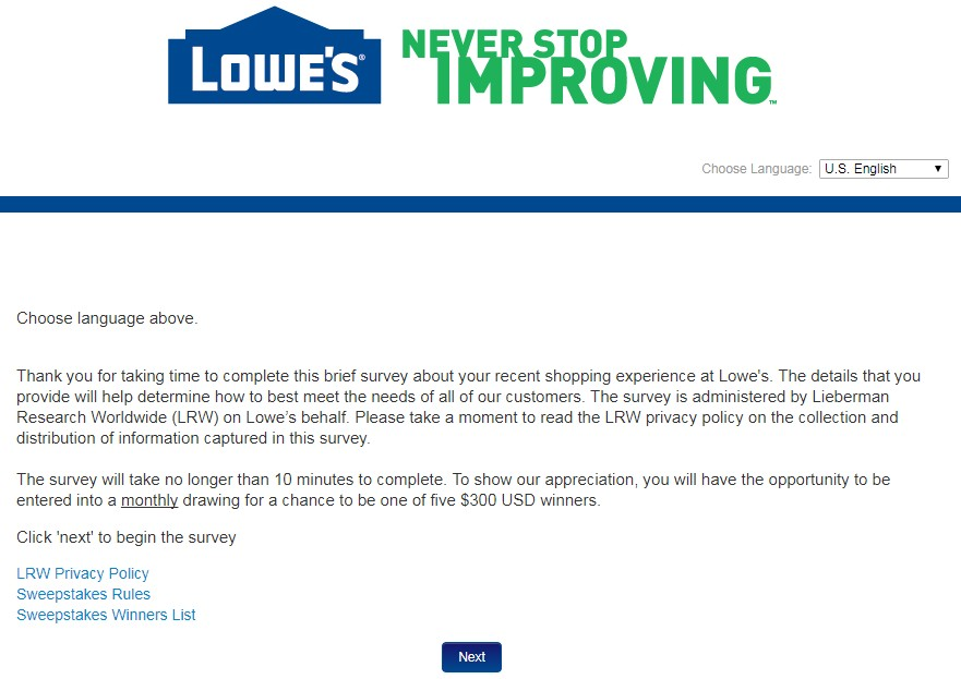 Lowes Survey Guide