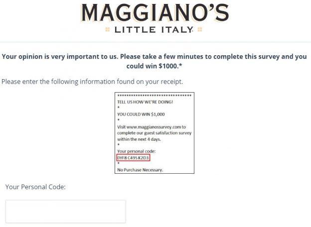 Maggianos Survey