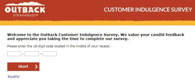 Outback Steakhouse Survey