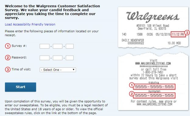 Walgreens Feedback Survey