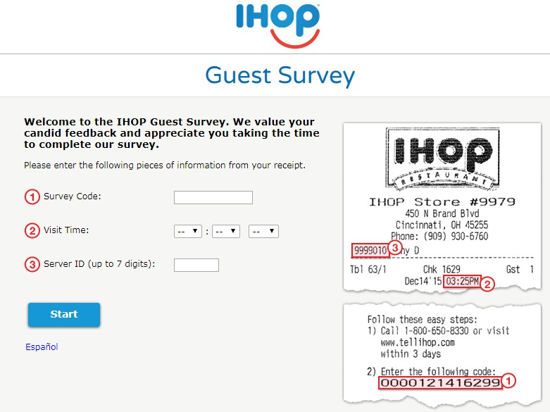 Ihop Survey
