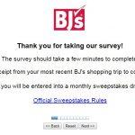 BJ's Customer Feedback Survey