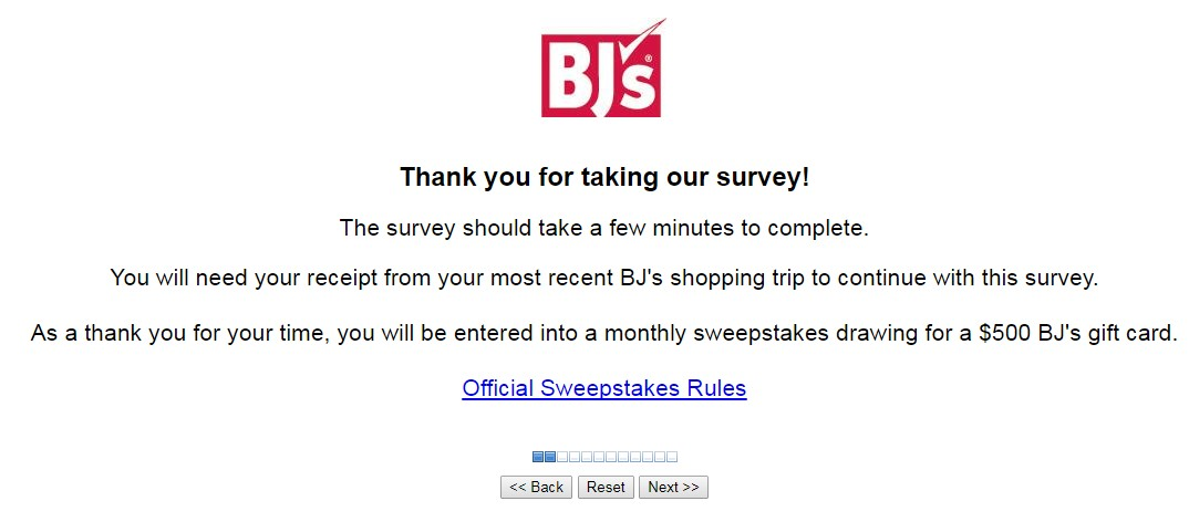 BJ's Customer Feedback Survey