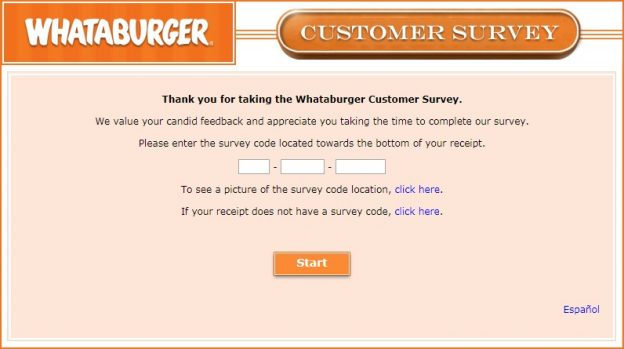WhataburgerSurvey Guide