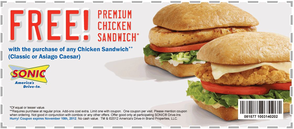 Sonic Drive in Classic Chicken Sandwich
