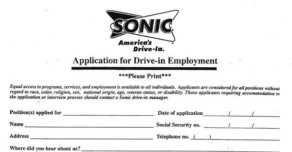Sonic Drive in Jobs
